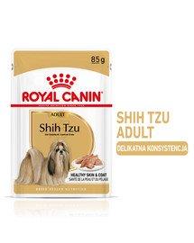 Shih Tzu Adult Loaf karma mokra 12 x 85 g kawałki w sosie, dla dorosłych psów rasy shih tzu