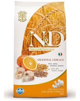 N&D low grain fish & orange adult small dog 2.5 kg