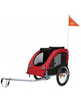 Przyczepa do roweru 60x57x80 cm czerwono/czarna