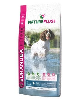 Nature Plus+ Adult Medium Breed Rich in freshly frozen Salmon 14 kg