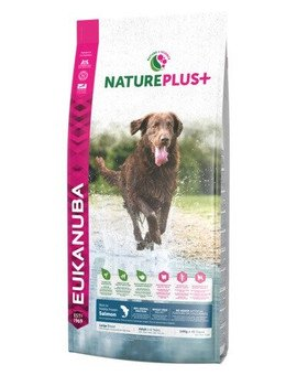 Nature Plus+ Adult Large Breed Rich in freshly frozen Salmon 10 kg