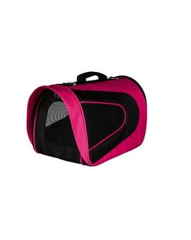 Torba transportowa alina nylon 22 x 23 x 35 co różowo-czarna