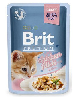Premium Cat Fillets in Gravy Kitten kurczak 85g