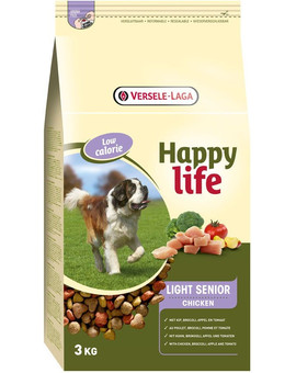 Happy life light senior chicken 3 kg