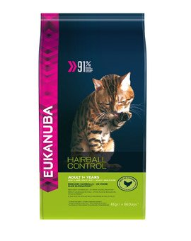 Cat Hairball Control Adult All Breeds Chicken & Liver 4 kg
