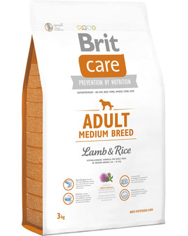 Care Adult Medium Breed lamb & rice 3 kg