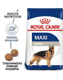 Maxi Adult 15 kg karma sucha dla psów dorosłych, do 5 roku życia, ras dużych
