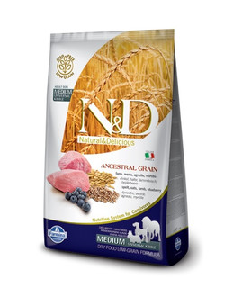 N&D Low grain lamb & blueberry adult medium dog 12 kg