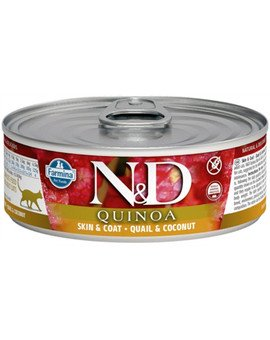 N&D Cat quinoa quail & coconut Skin&Coat 80 g karma dla kotów na poprawę stanu sierści