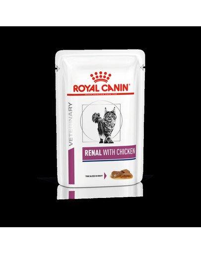 Cat Renal Chicken 12x85 g  karma mokra dla kotów z przewlekłą niewydolnością nerek
