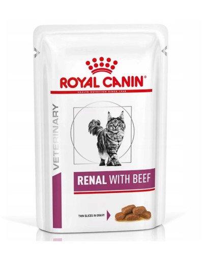 Cat Renal Beef 12x85 g mokra karma dla kotów z przewleką niewydolnością nerek