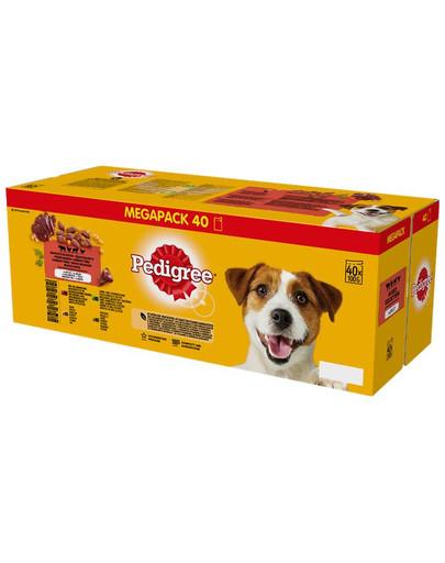 Adult saszetka 40x100g Mix Smaków - mokra karma dla psów w galaretce (z wołowiną, z kurczakiem, z jagnięciną, z drobiem)
