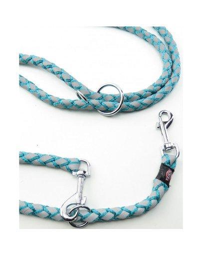 Cavo Reflect Odblaskowa smycz regulowana dla psa morski błękit S–M: 2.00 m/o 12 mm