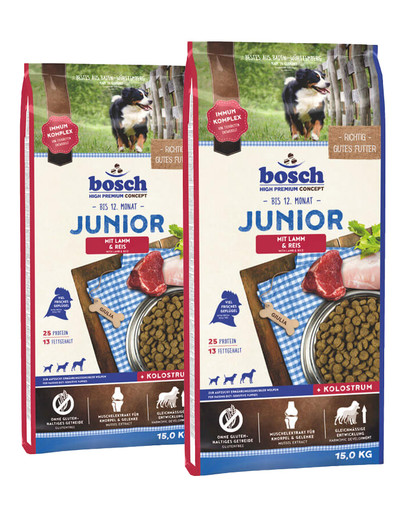 BOSCH Junior jagnięcina z ryżem 30 kg (2 x 15 kg)