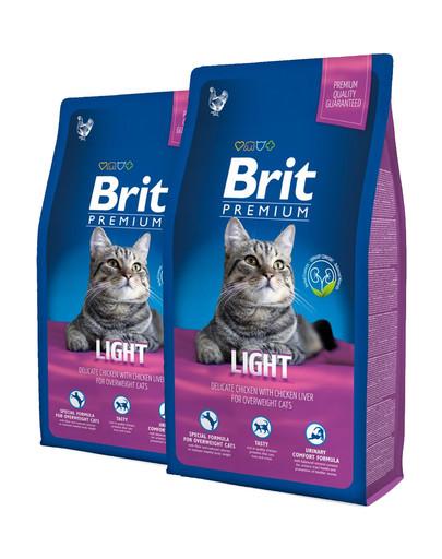 BRIT Premium Cat Light 16 kg (2 x 8 kg)