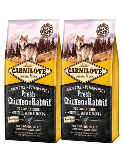 CARNILOVE Adult fresh kurczak i królik 24 kg (2 x 12 kg)