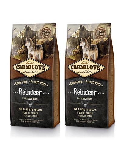 CARNILOVE Adult Renifer 24 kg (2 x 12 kg)