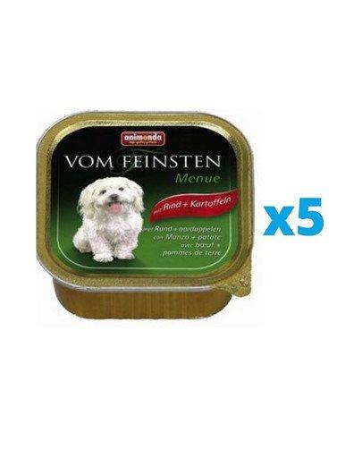 ANIMONDA Vom Feinsten Menue zestaw z wołowiną i ziemniakami 5 x 150 g
