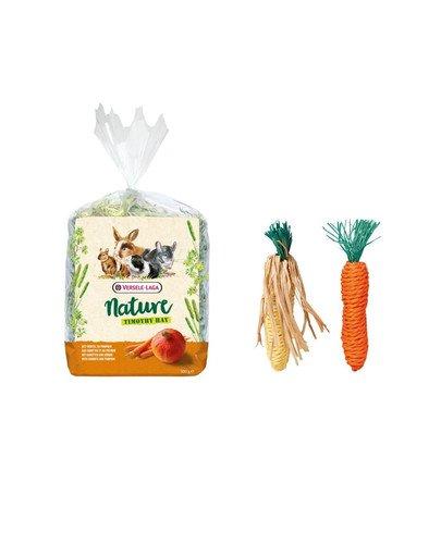 VERSELE LAGA Zestaw świąteczny Siano tymotkowe 500 g + sizalowa zabawka dla królika i gryzoni