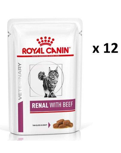Renal Feline wołowina 12 x 85 g