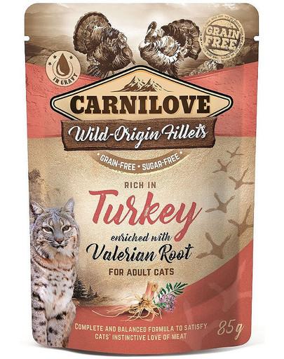 Cat Pouch Turkey & Valerian 85g indyk i waleriana