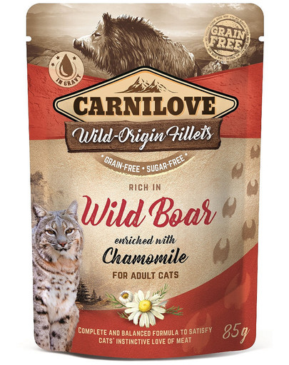 Cat Pouch Wild Boar & Chamomile 85g dzik i rumianek