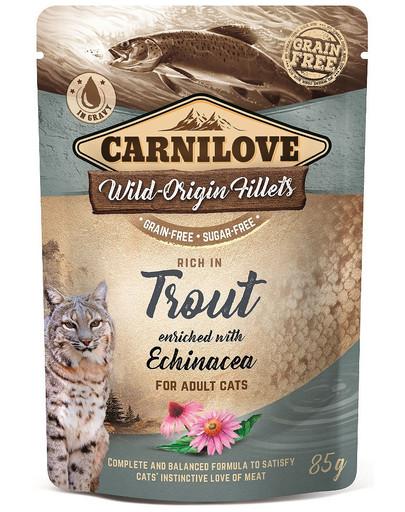 Cat Pouch Trout & Echinacea 85g pstrąg i jeżówka