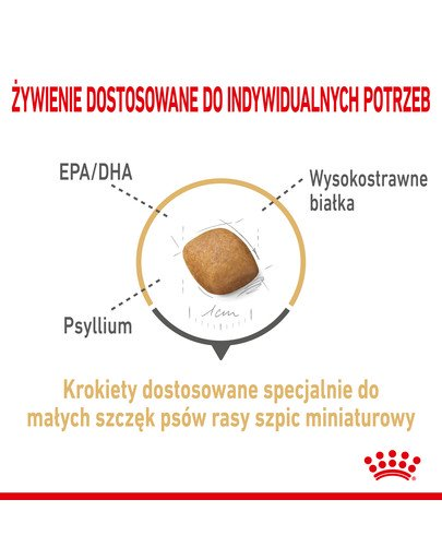 Pomeranian Adult 1.5 kg karma sucha dla psów dorosłych rasy szpic miniaturowy