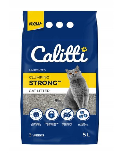Strong Unscented Żwirek bentonitowy dla kota bezzapachowy 5 l
