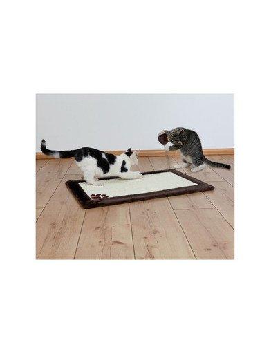 Drapak dla kota mata 70 x 45 cm z pluszem  brązowy