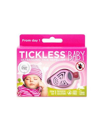 Baby Ultradźwiękowy odstraszacz kleszczy dla dzieci Różowy