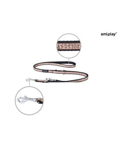 Smycz nxr 100 - 200 cm / 2 cm wzór egipski