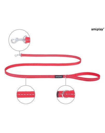Smycz reflective m 150/1.5 cm czerwona