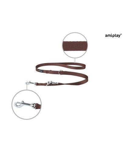 Smycz nr 100 - 200 cm / 2 cm brązowa