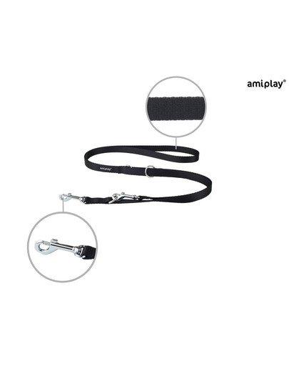 Smycz nr 100 - 200 cm / 2.5 cm czarna