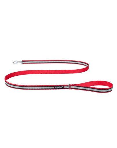 Smycz nxo 150 cm / 2 cm czerwona + odblask