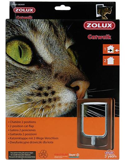 Drzwiczki dla kota do drzwi drewnianych