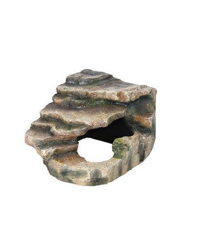 Skałka narożna z jaskinia i platformą 16 x 12 x 15 cm