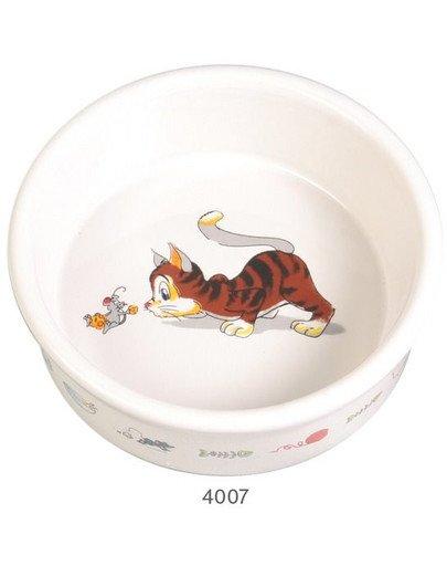 Miska ceramiczna dla kota z motywem