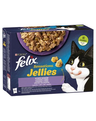 Sensations Jellies Wybór Smaków w galaretce 12x85g mokra karma dla kota