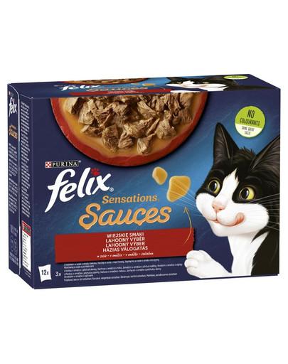 Sensations Sauce Wiejskie Smaki w sosie 12x85g mokra karma dla kota
