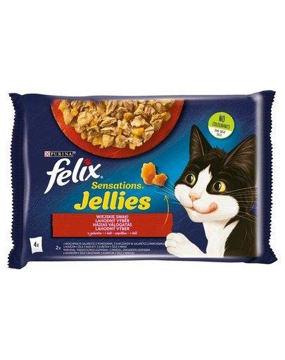 Sensations Jellies Wiejskie Smaki w galaretce 4x85g mokra karma dla kota