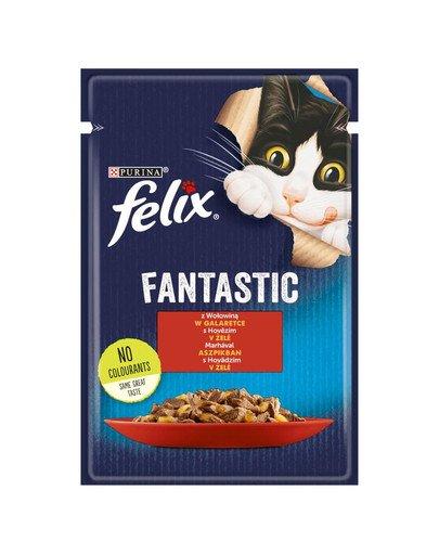 FANTASTIC Wołowina w galaretce 85g mokra karma dla kota