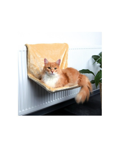 Legowisko dla kota na kaloryfer 48 × 26 × 30 cm  beż