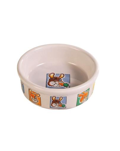 Miska dla królika z motywem 300 ml