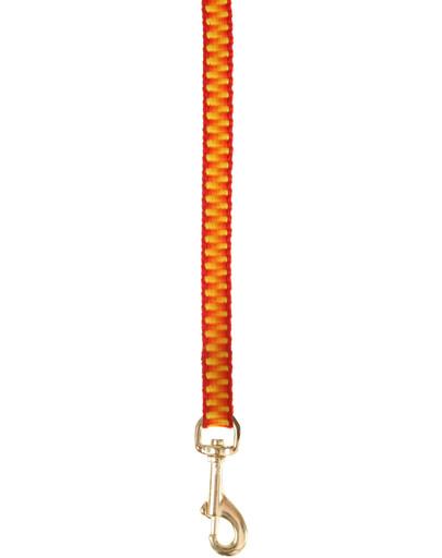 Smycz seventies 1 m / 10 mm pomarańczowa