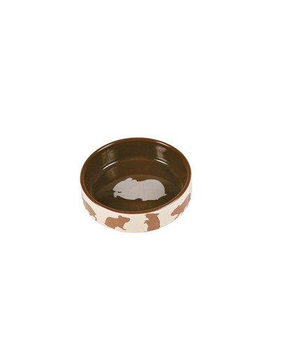 Miska ceramiczna dla chomika z motywem chomika 80 ml