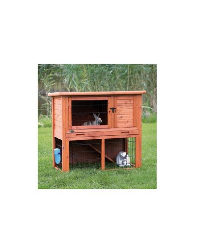 'Natura' rabbit hutch w. enclosure. 104 x 97 x 52 cm