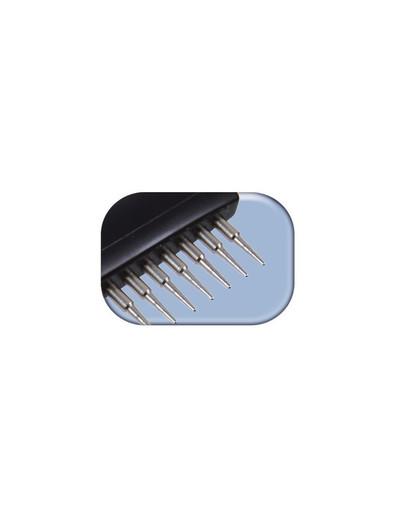 Zgrzebło metalowe z obrotowymi zębami dla psów krótkowłosych 10 × 15 cm