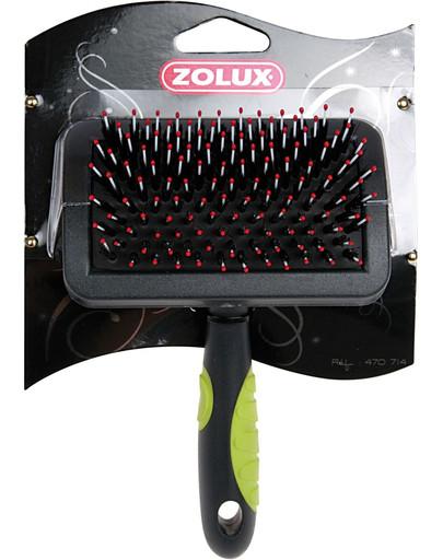 Zolux bursten - zgrzebło-szczotka plastikowe średnie